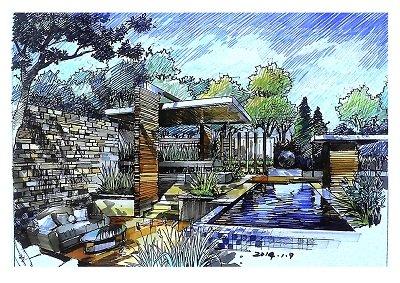手绘效果图,马克笔上色,建筑设计,室内设计,风景园林,城市规划