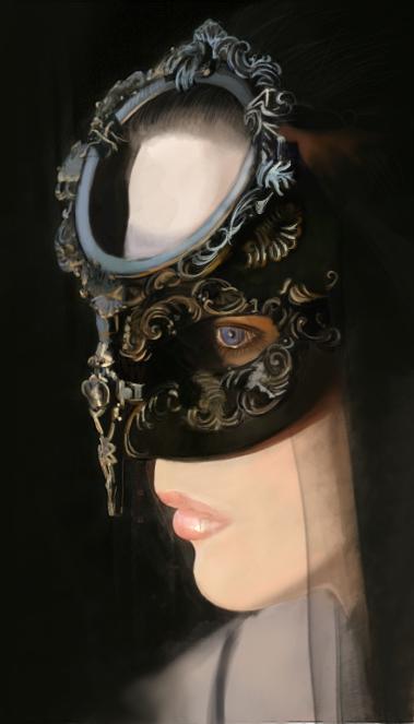 ps电脑人物手绘-面具女人|绘画习作|插画|hannahja
