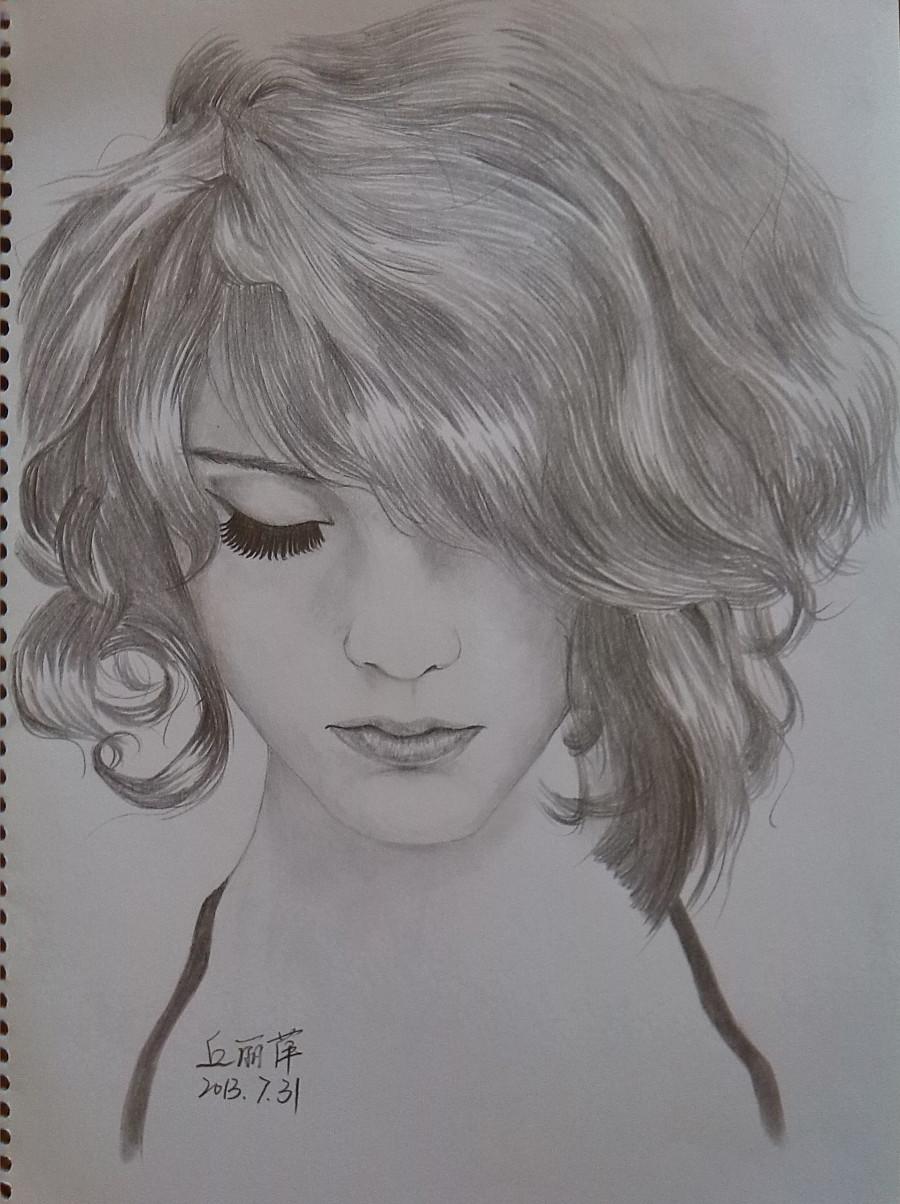 手绘头像13|素描|纯艺术|xiao丘