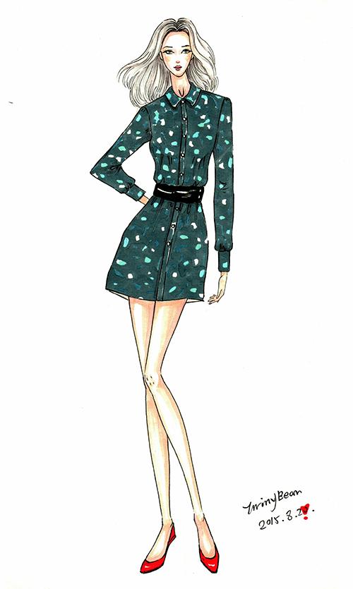 服装效果图设计,手绘稿|服装|休闲/流行服饰|shuangs