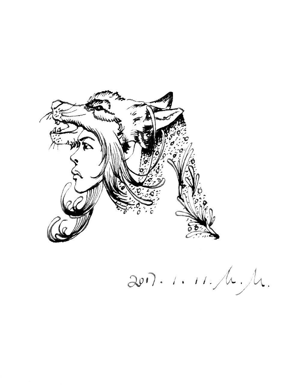 字母手绘线描稿|插画|插画习作|陈某某陈某某 - 原创