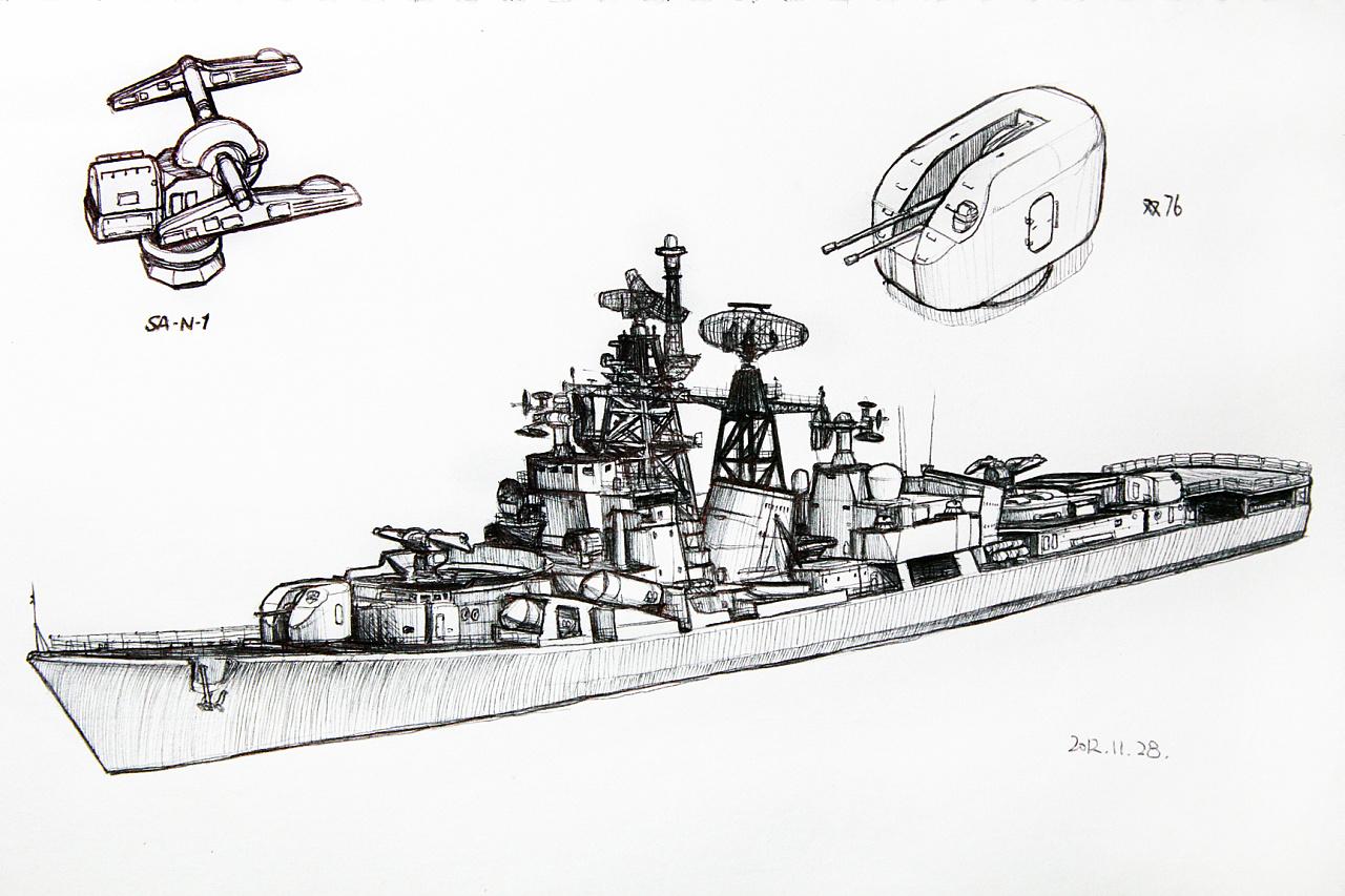 海军 航母 简笔画 舰 军事 手绘 线稿 1280_853