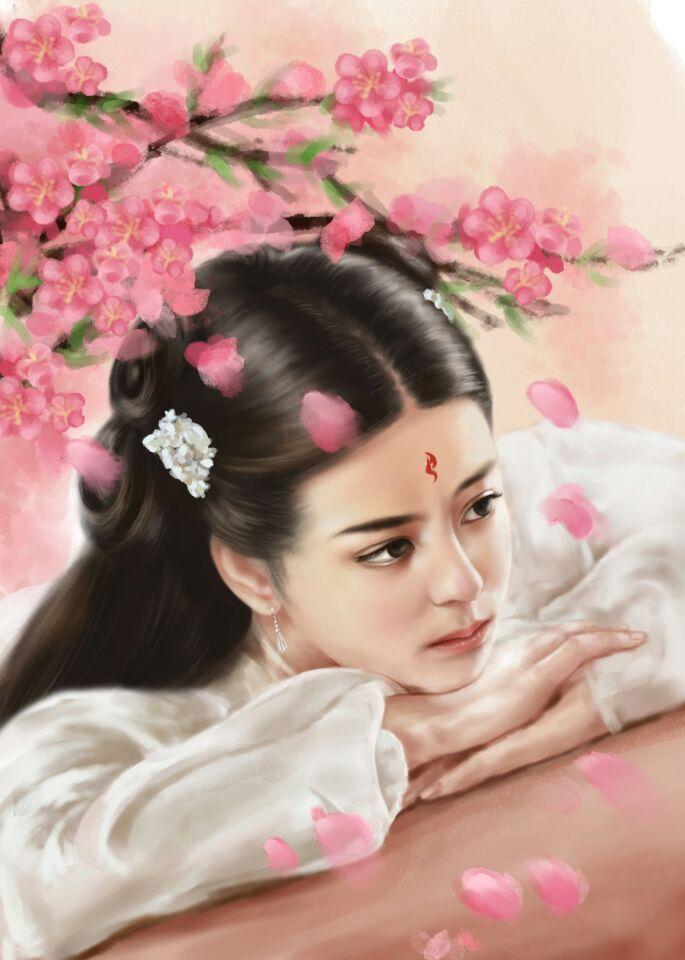 三生三世十里桃花——东华凤九手绘图|插画|插画习作