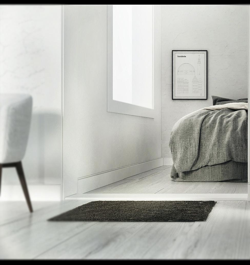 北欧 Scandinavian Style 创作时间:2016.12.17 创作想法:以白为主色,地板采用清晰的白色木纹,材质表现以布料和木材为主,灯光是轻微的太阳光,有种微微的太阳的淡色调。创作过程中,困难是各方面的,不管材质还是灯光,都要有所顾及和分析。还有便是对于镜头的把控,进行了多角度的尝试,在镜头中,我们所要能看见的是材质,光影,结构,所表现出来的最清晰的融合。后期中利用了摄影中的曝光,采用一定的曝光及光韵效果,真实感便有所增强。运用近景模糊,来表现特写。 创作灵感:白与黑是对立的,其实对于表