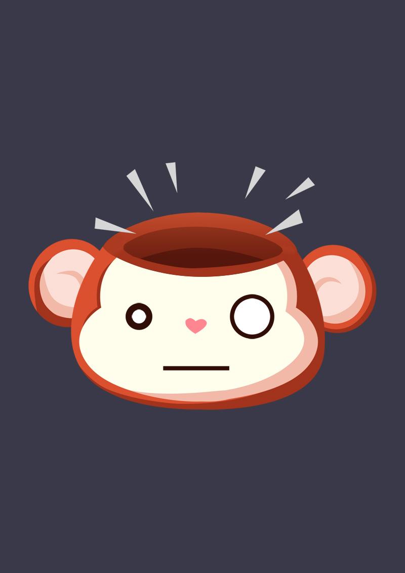 一只猥琐的猴子卡通形象(已商用)|其他动漫|动漫