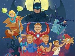 健身俱乐部宣传海报——《健身超级英雄》