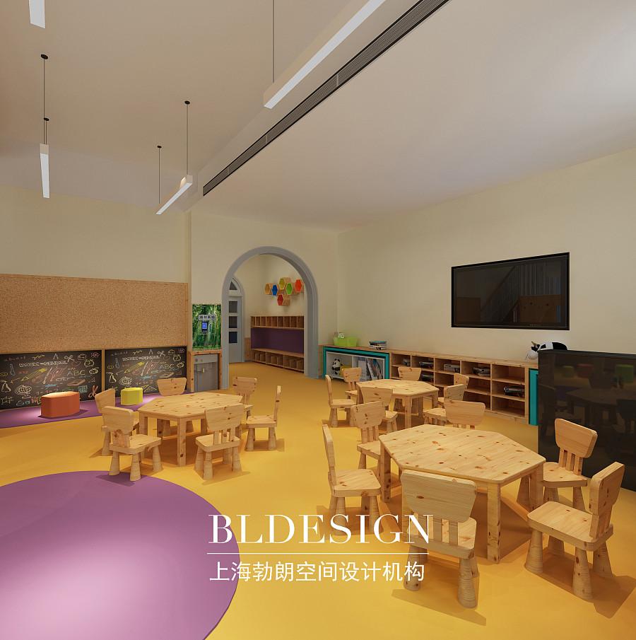 郑州专业幼儿园设计公司-原木清新的幼儿园教室设计方案图片