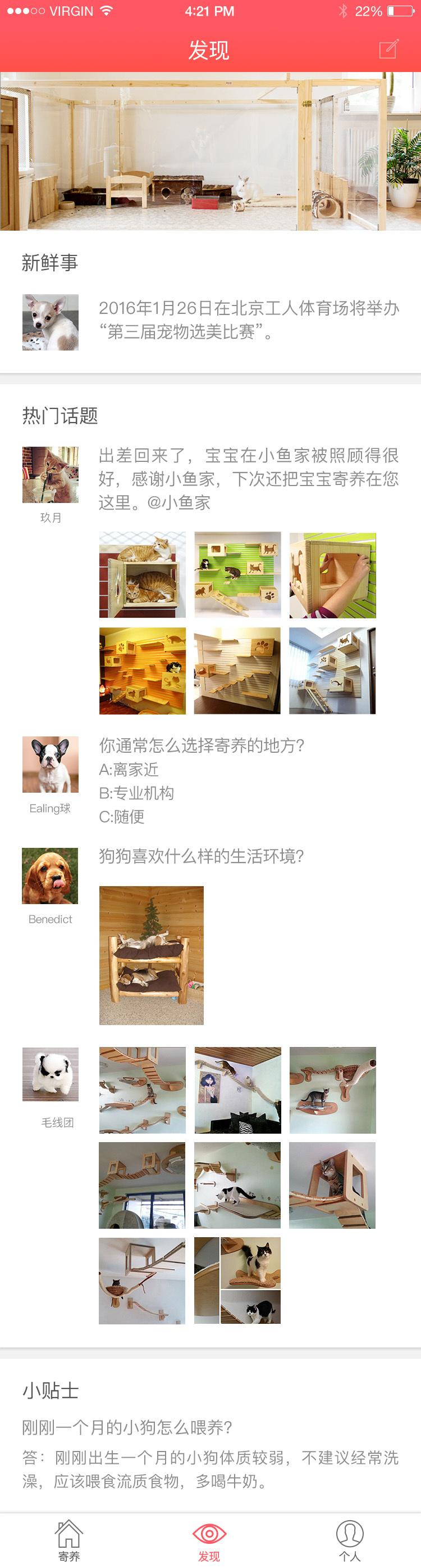 宠物寄养app|ui|app界面|keepsilence - 原创作品