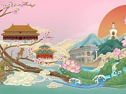 北京古建四季图