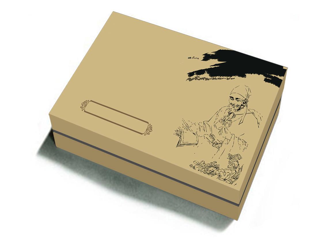 创意包装盒子纹样手绘