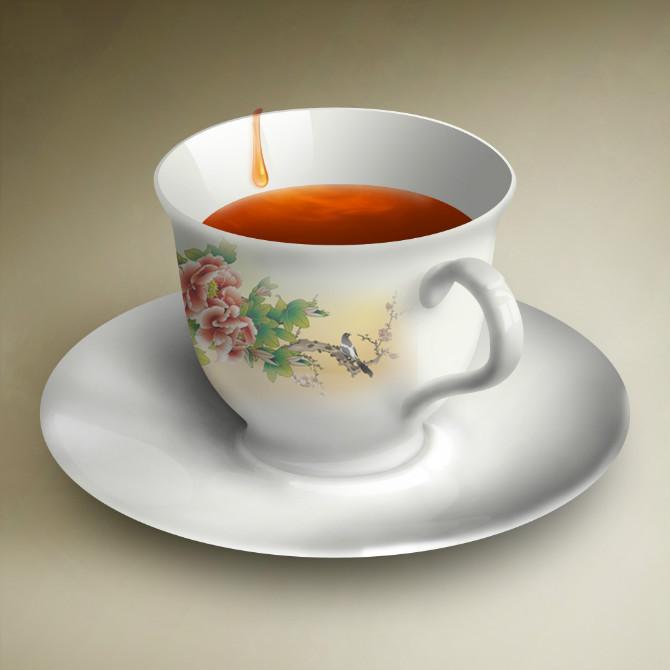 q板动漫人物图片 茶杯
