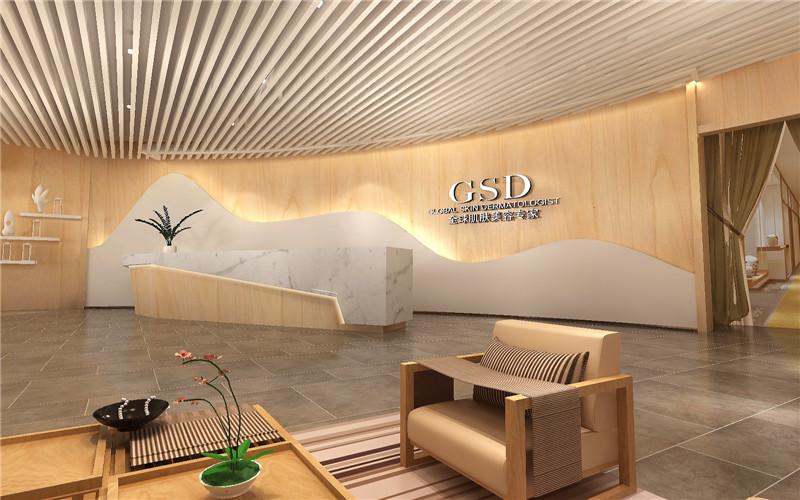 汶川美容院设计|深圳美容院装修-汶川GSD美肤潍坊庭院景观设计施工单位图片