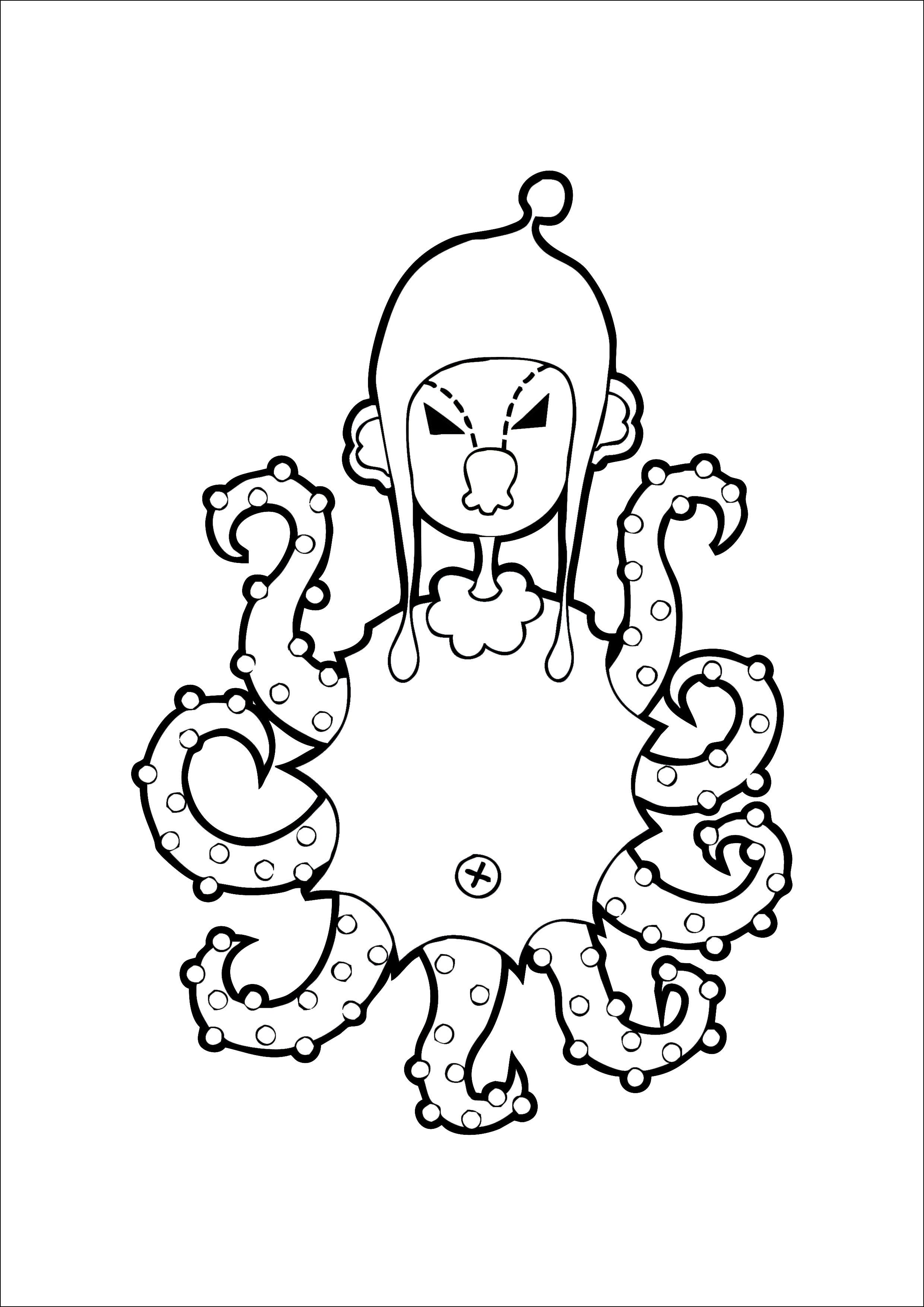可爱章鱼手绘图