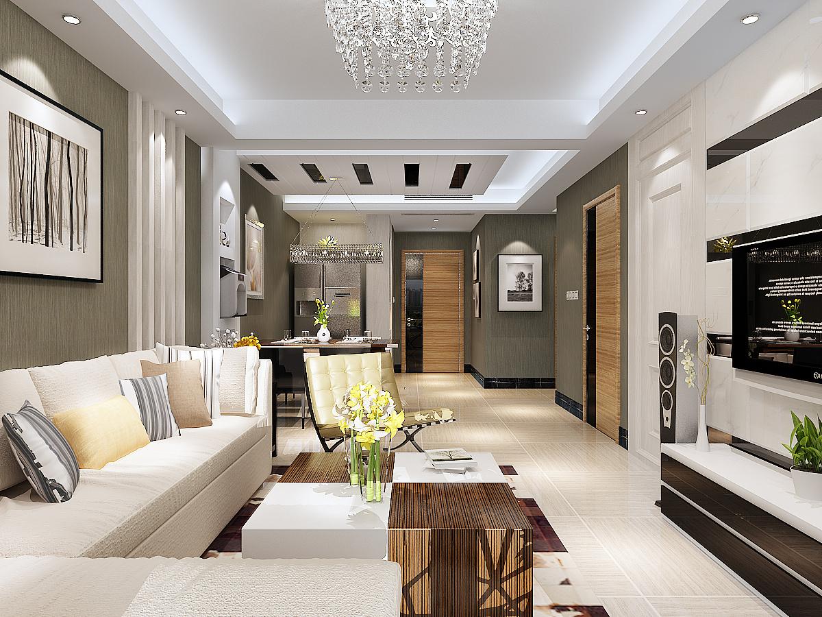 室两厅简约风格装修效果图 金舍装饰