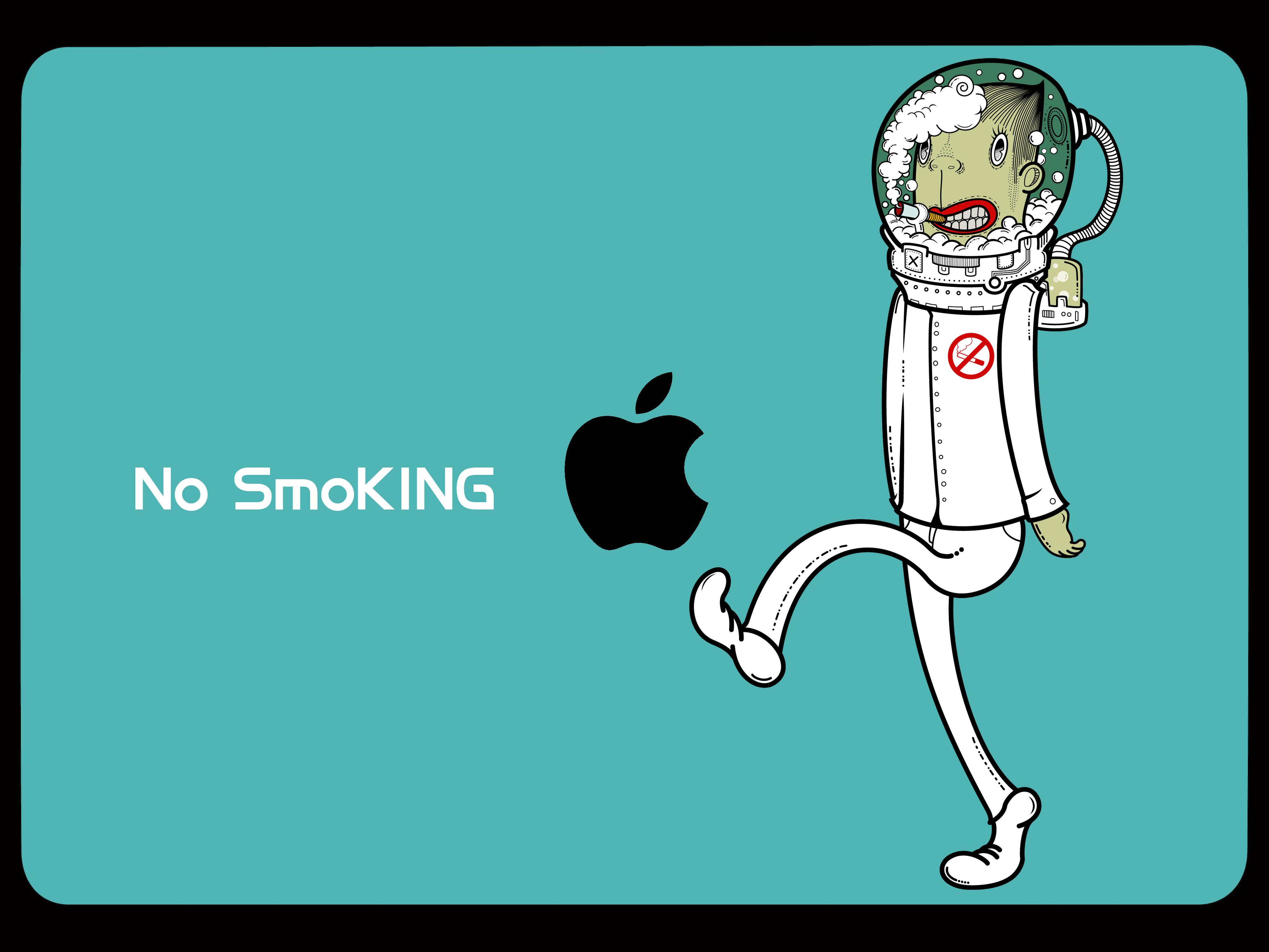 戒烟创意海报手绘