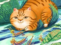 端午安康 | 猫婵插画