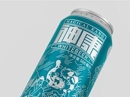 神康白啤丨白啤酒包装设计