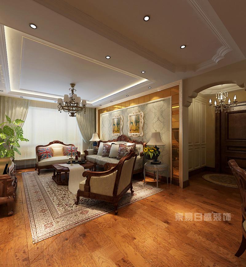 沈阳保利康桥150平欧式风格装修案例|室内设计|空间
