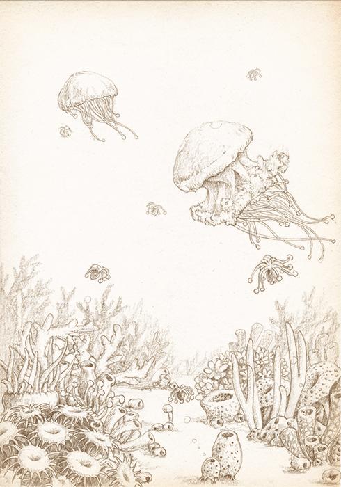 在天空飞的动物图案简笔画