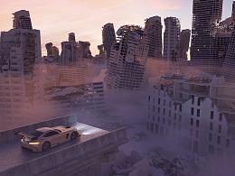 20分钟用C4D+OC打造废墟城市?你也可以