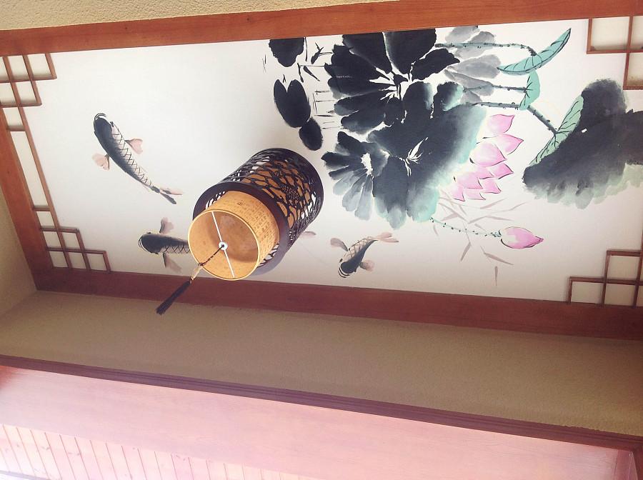 洪山渔港 墙体彩绘 水墨画