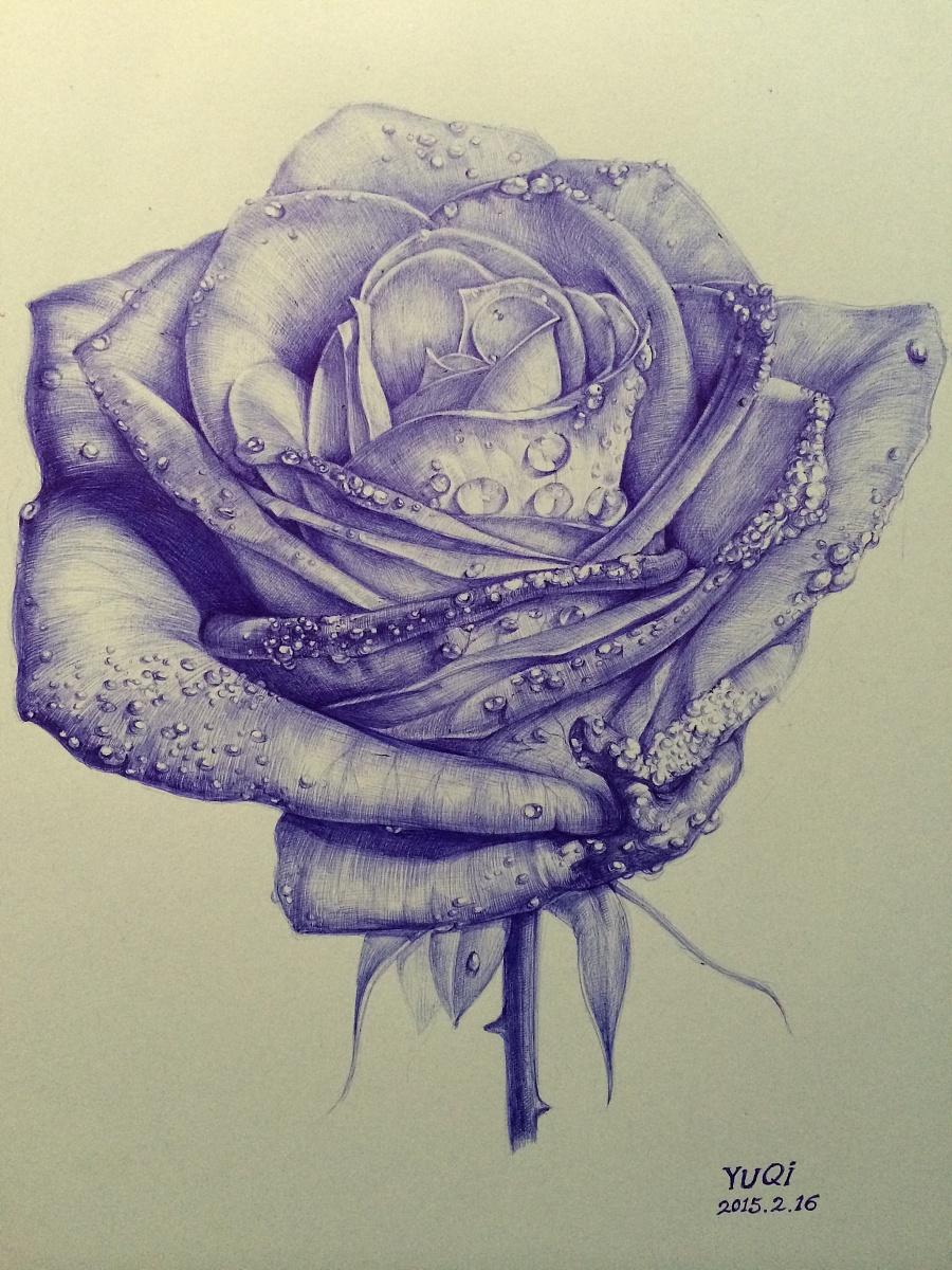 【绘画妖姬】圆珠笔世界---(受OY的v绘画也喜欢我的蓝色大门口设计图图片
