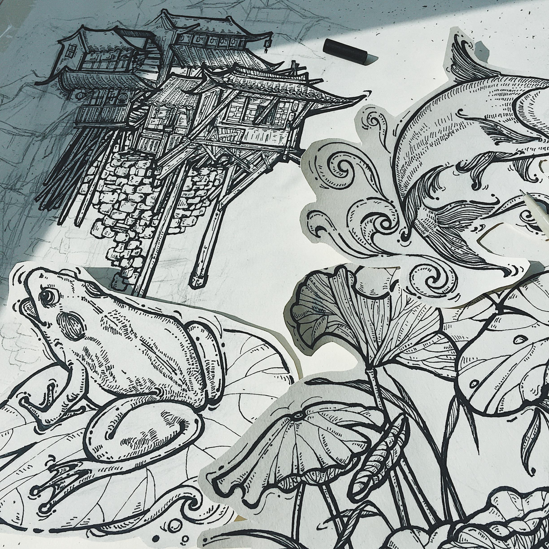 重庆图片手绘高清大图