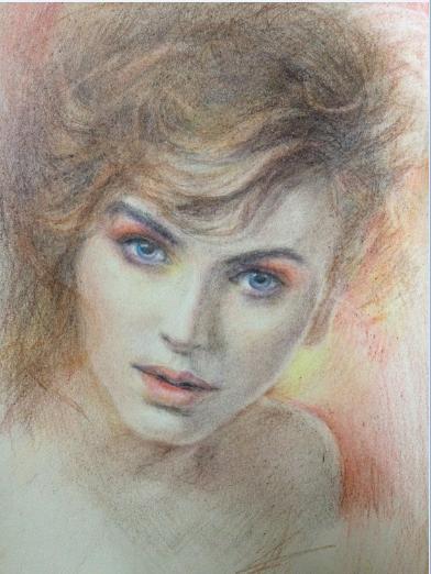 彩铅手绘女子|商业插画|插画|zime