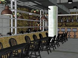 0基础室内设计马同学颓废的工业风酒吧设计
