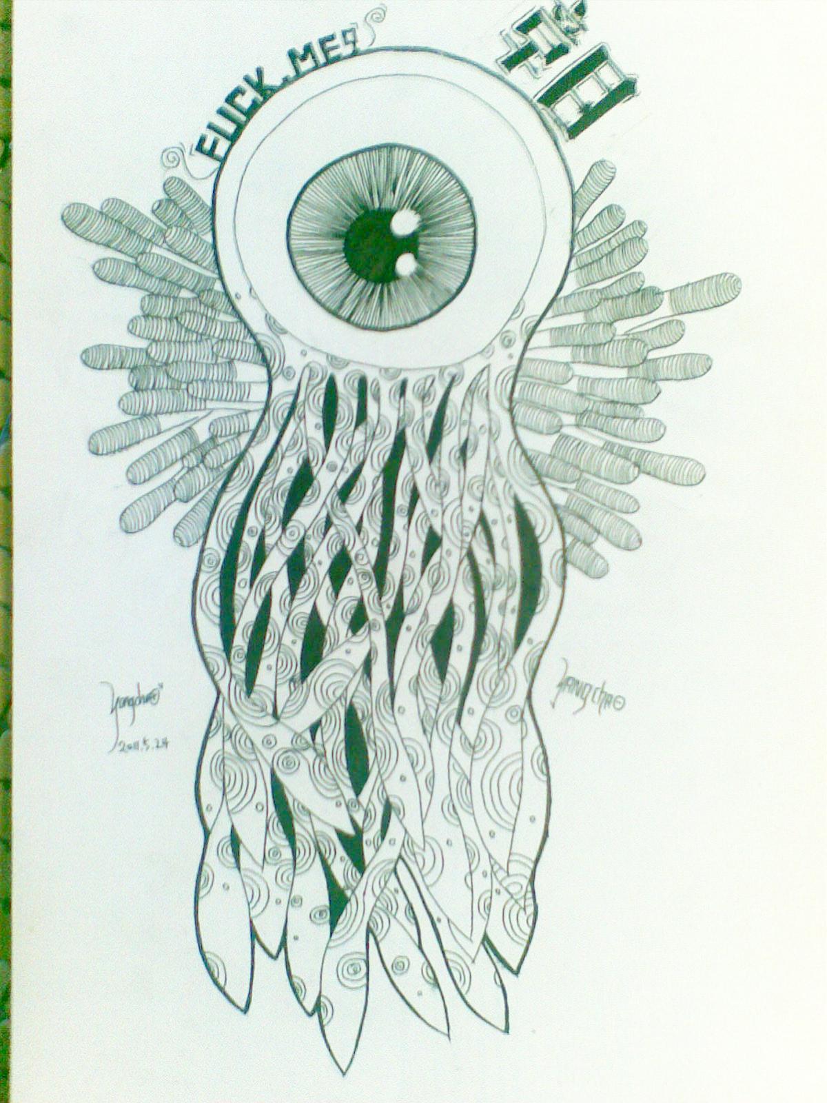 眼球主题手绘
