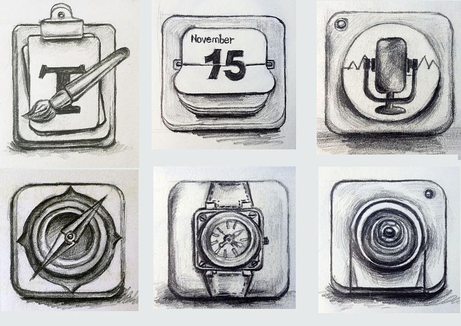 手绘图标|图案|平面|笔画人生 - 原创设计作品 - 站酷