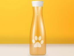 精修玻璃瓶(除了瓶盖,都是自己画的。有附件供参考)