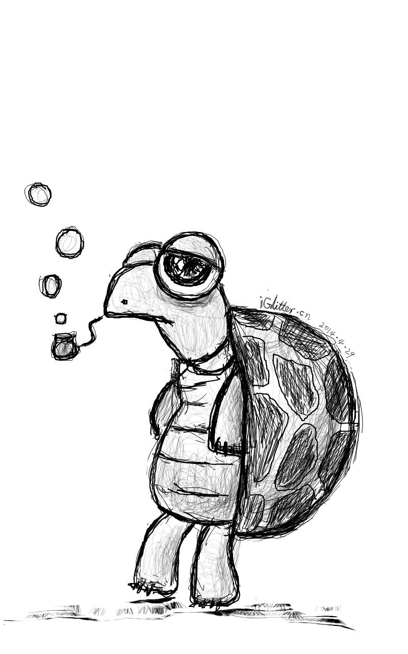 小涂鸦乌龟的简笔画-小涂鸦