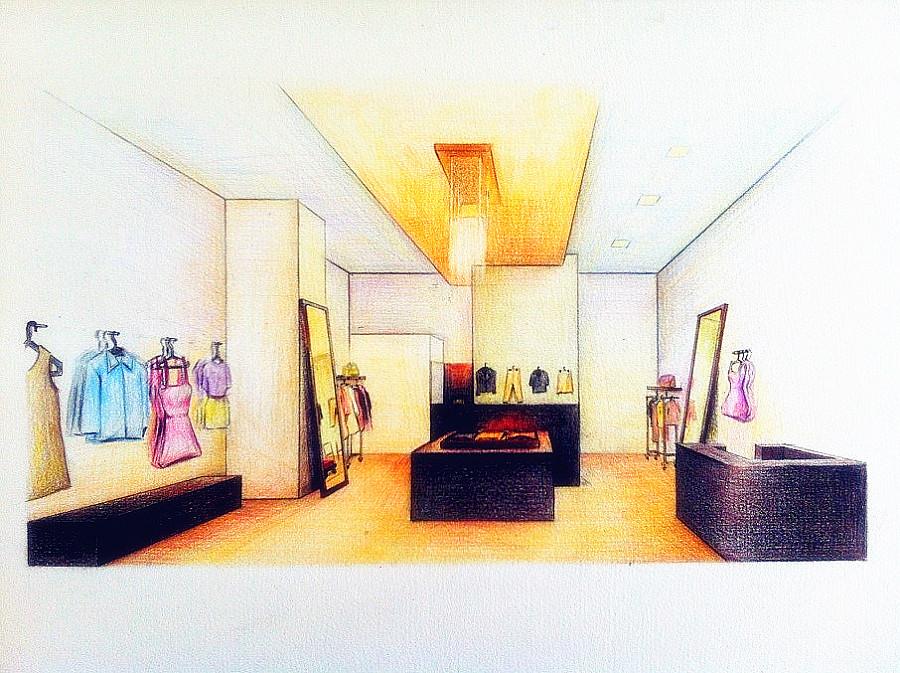 彩铅手绘——一点透视与两点透视|商业插画|插画