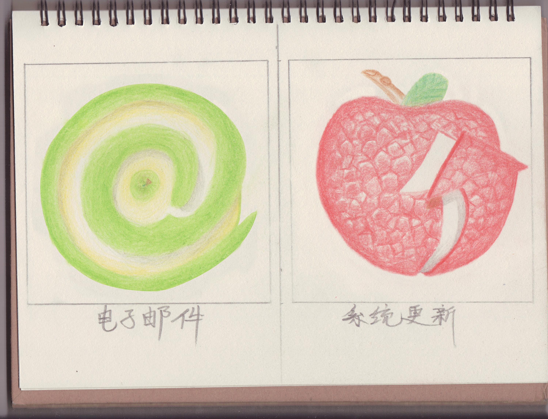 手绘--水果主题手机图标