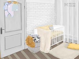 《婴儿房概念插画4》