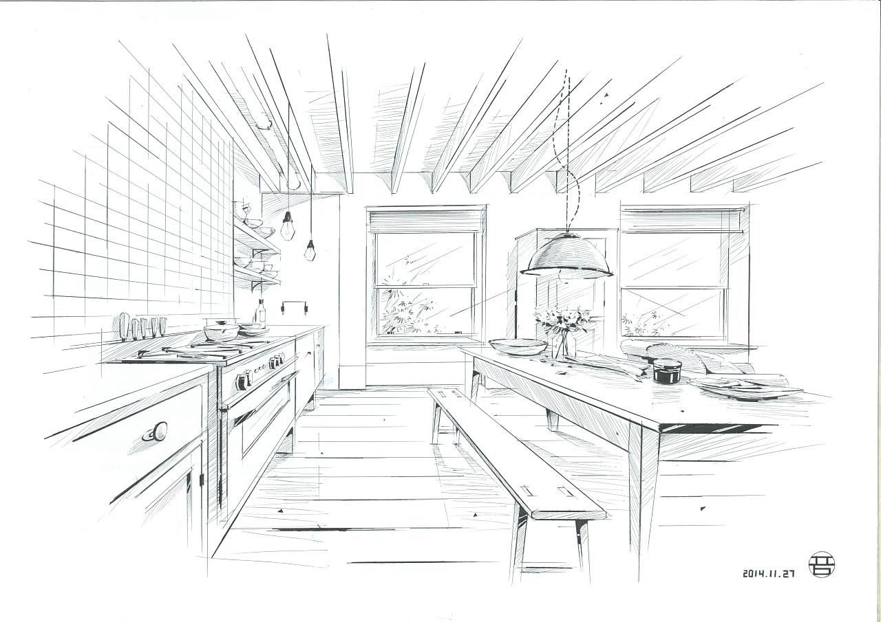 手绘线稿(室内)|空间|室内设计|qq479839493 - 原创
