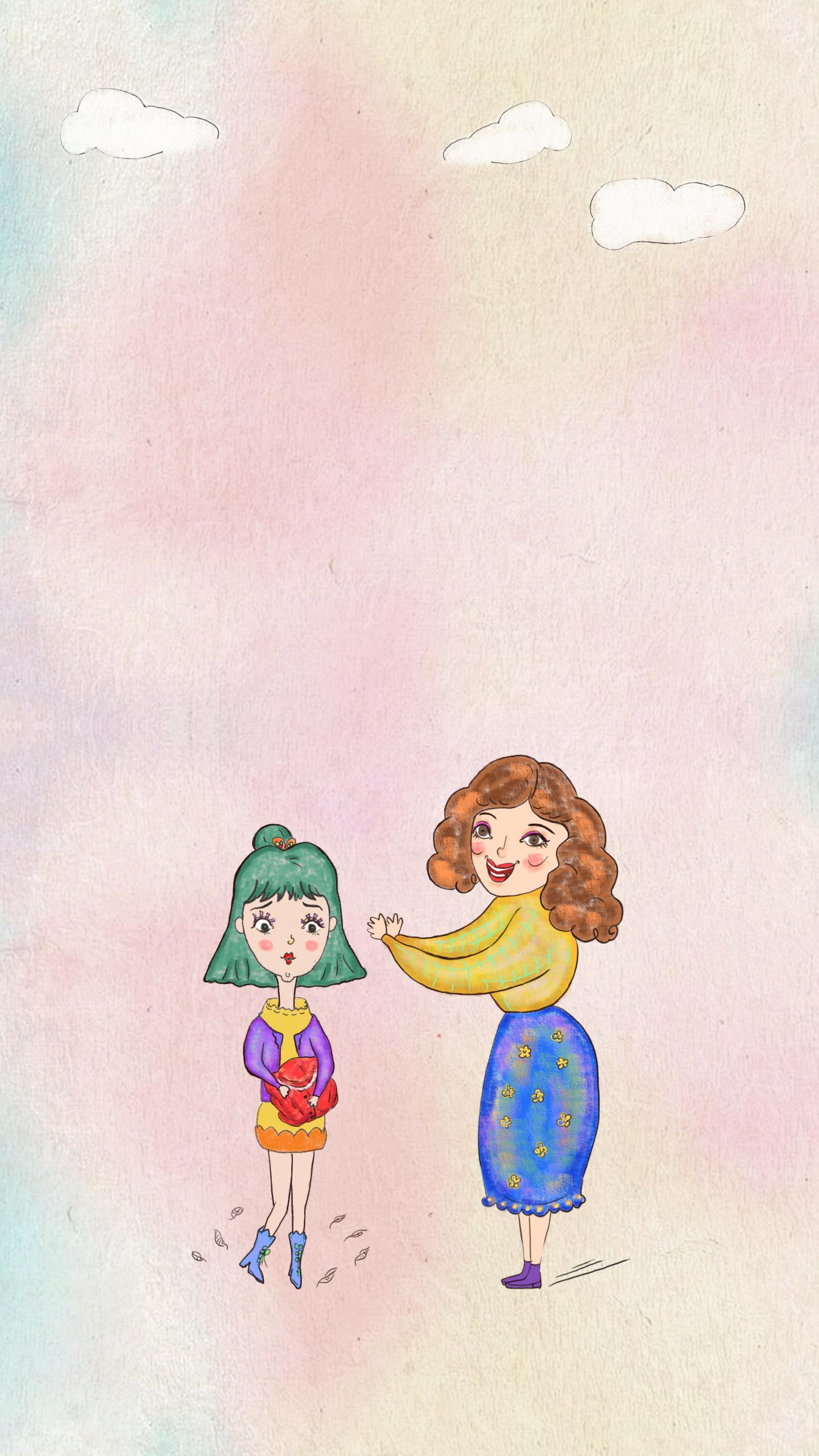 爱妈妈-原创手绘