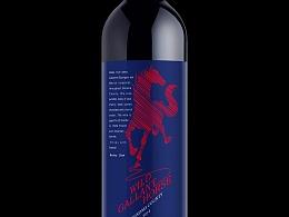 美国烽马红酒酒标设计