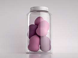 【练习】美妆蛋罐子产品制作