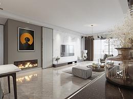 京华装饰现代客厅