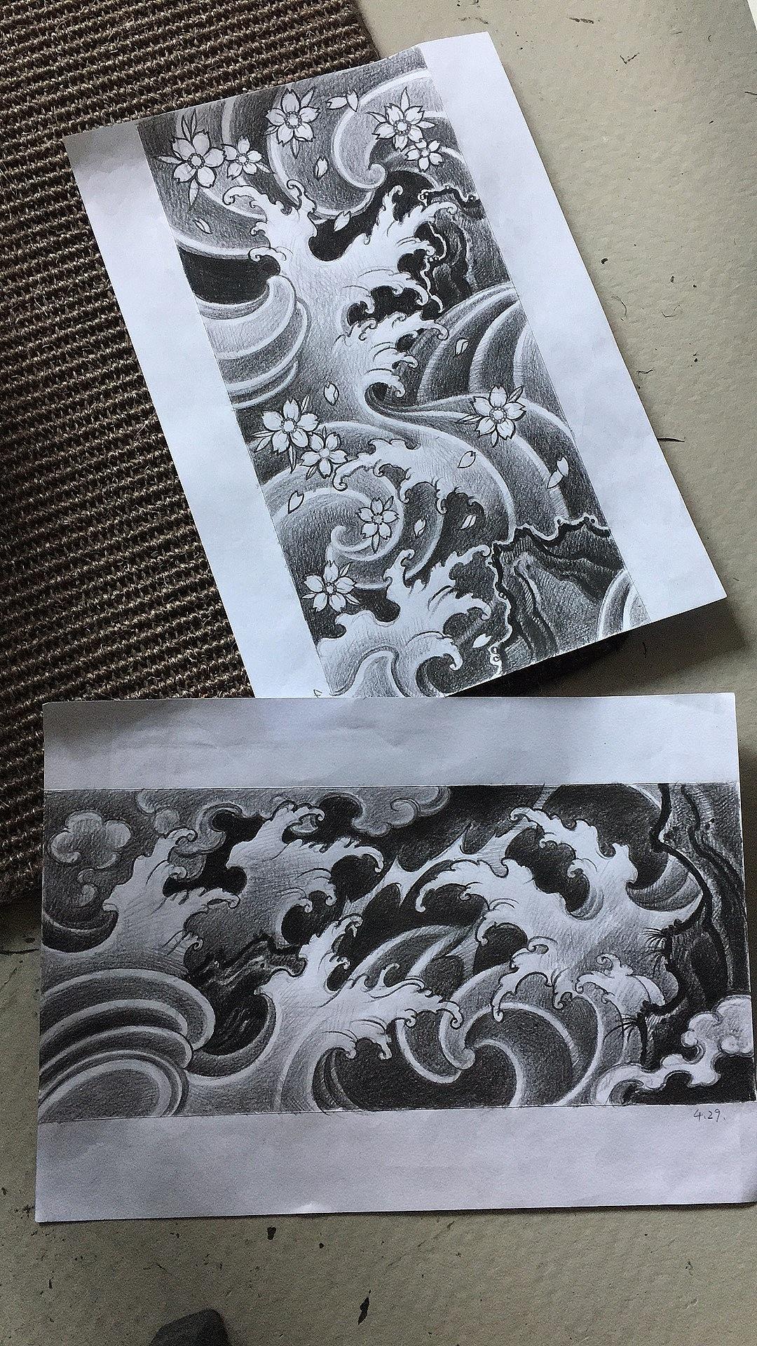浪臂紋身手稿 - 原創作品 - 站酷(zcool)圖片