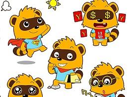 狸猫 卡通形象吉祥物设计