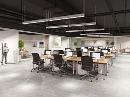 网络科技公司办公室工装设计