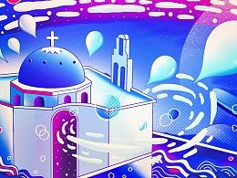 #致世界的明信片#圣托里尼