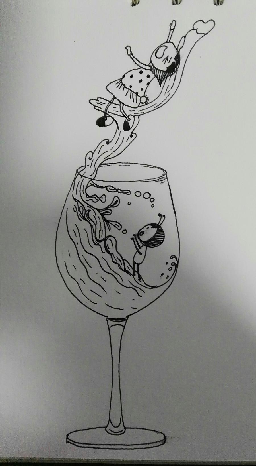 几张创意线稿|插画习作|插画|玛利 - 原创设计作品图片