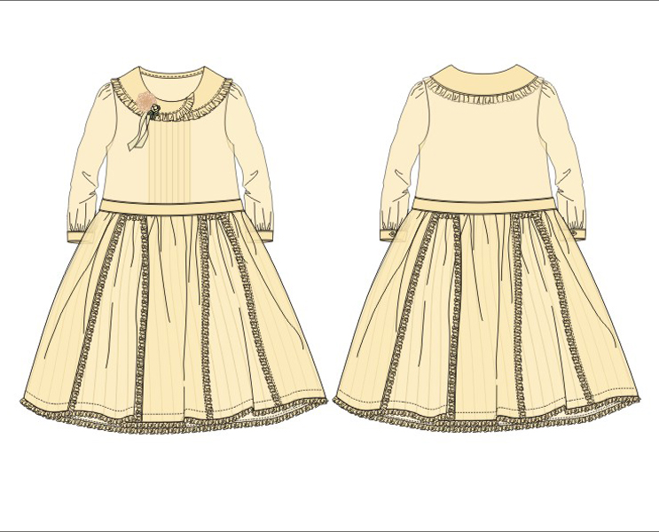 服装设计图|||可可西里里 - 原创设计作品 - 站酷