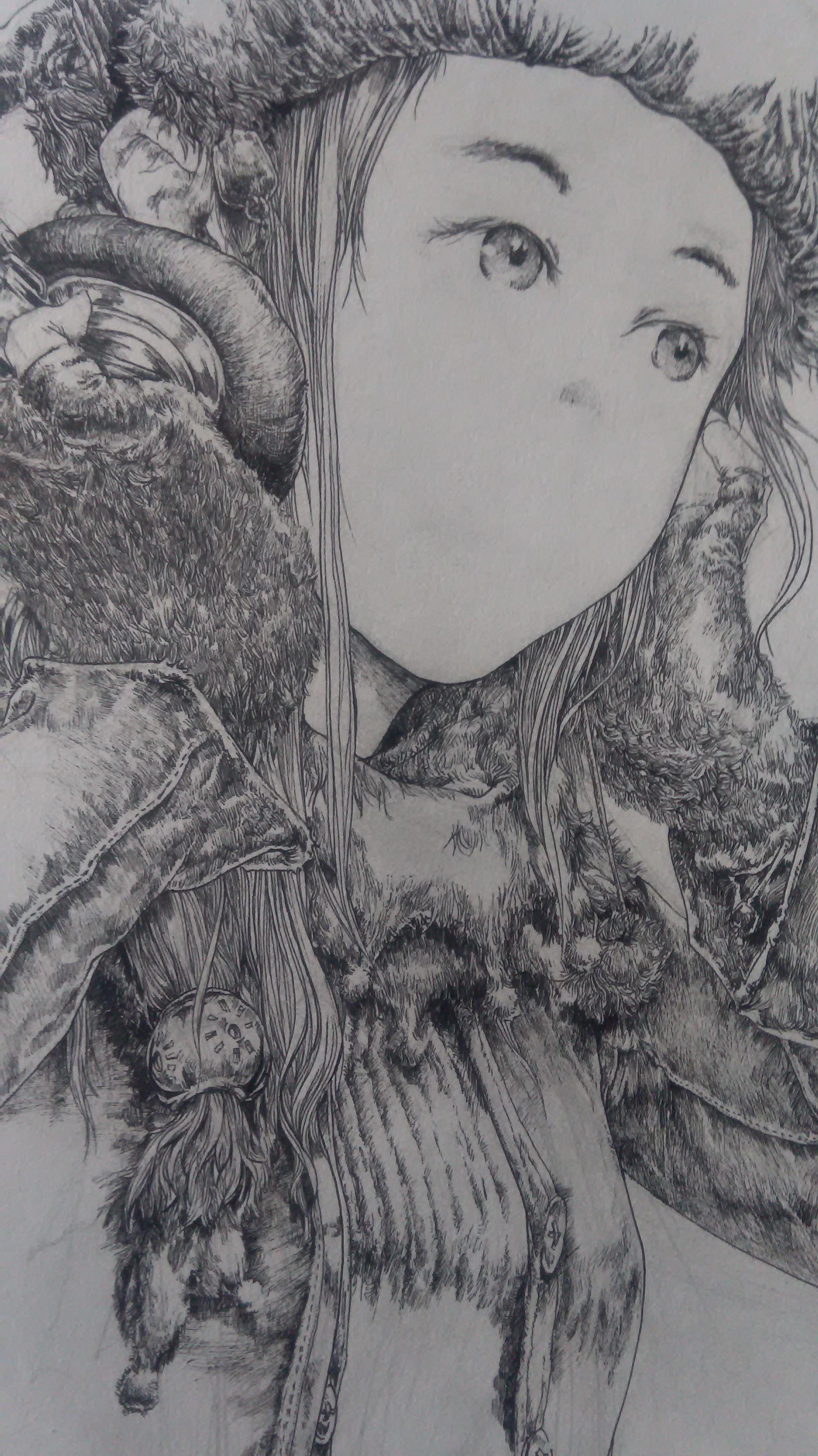 """过去的""""坑""""王 纯艺术 钢笔画 通天者 - 原创作品图片"""
