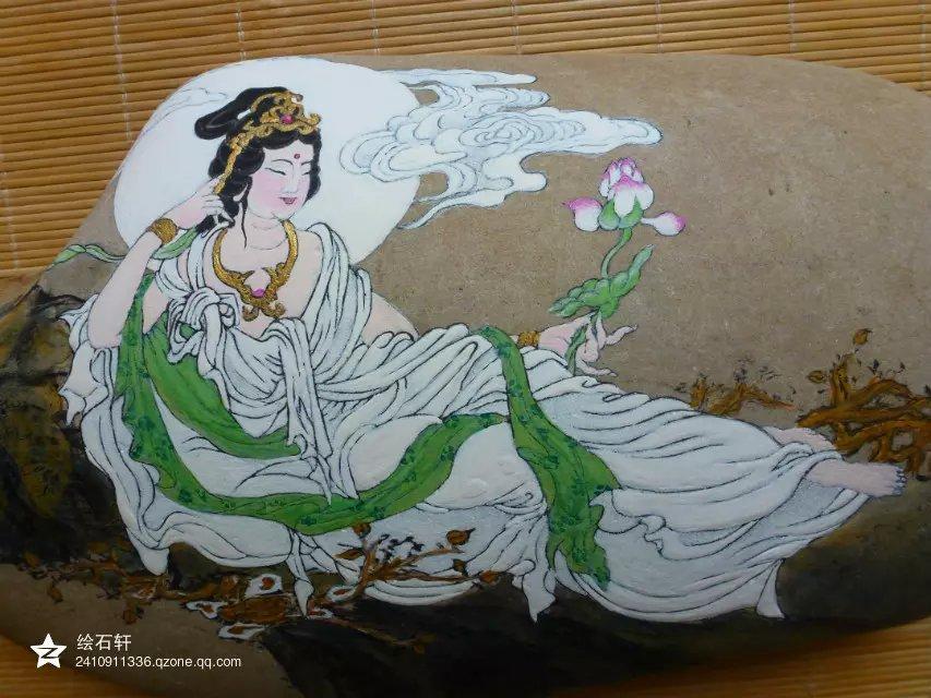 石头彩绘|工艺品设计|手工艺|绘石轩