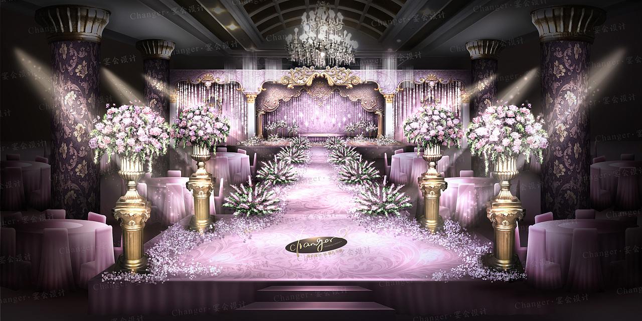 婚礼手绘效果图    婚礼平面儿设计    婚礼全案定制    全套现场搭建
